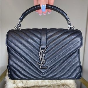YSL YVES SAINT LAURENT COLLEGE MEDIUM BAG